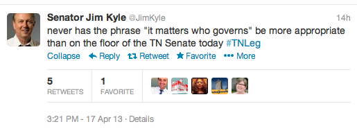Sen. Jim Kyle with some serious truth about governing