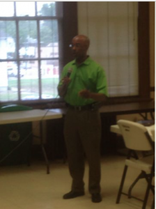 Martavius Jones speaking to the Shelby County Democratic Primary Board