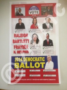 Not a Democratic Party ballot