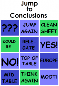 Put your 'jump to conclusions mats' away