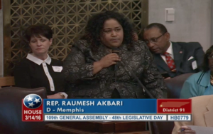 Rep. Raumesh Akbari speaking on her amendment