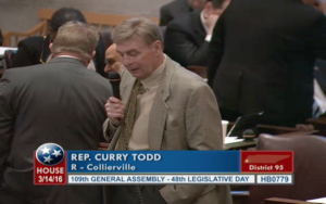 Rep. Curry Todd telling the floor of the House that Memphis runs a deficit